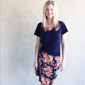 NWT LuLaRoe Cassie Skirt, Floral Unicorn